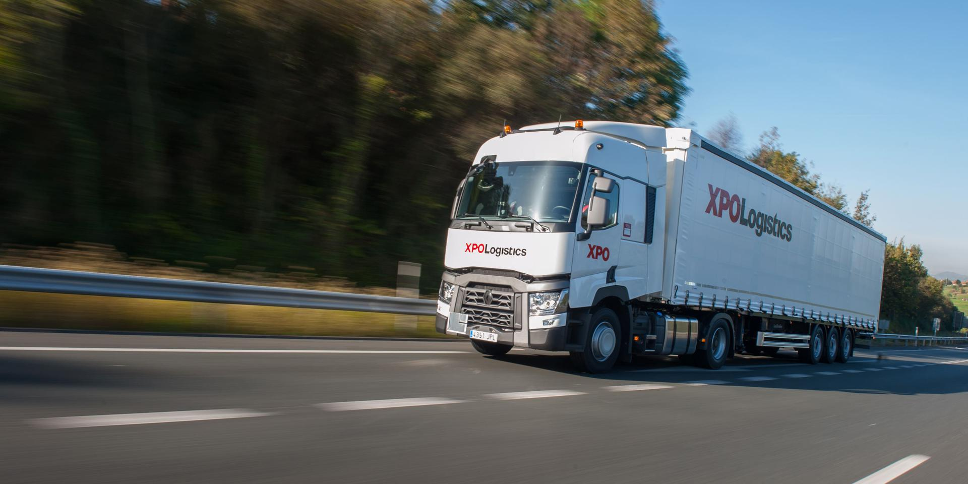 XPO truck in Europe