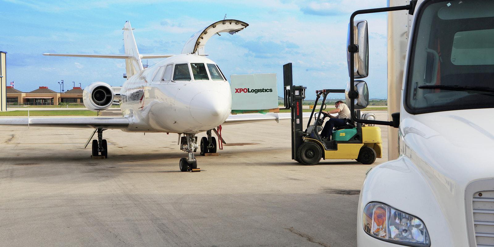 cargo loaded onto charter plane