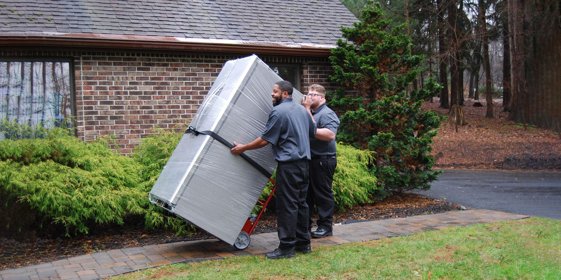 Unloading furniture delivery