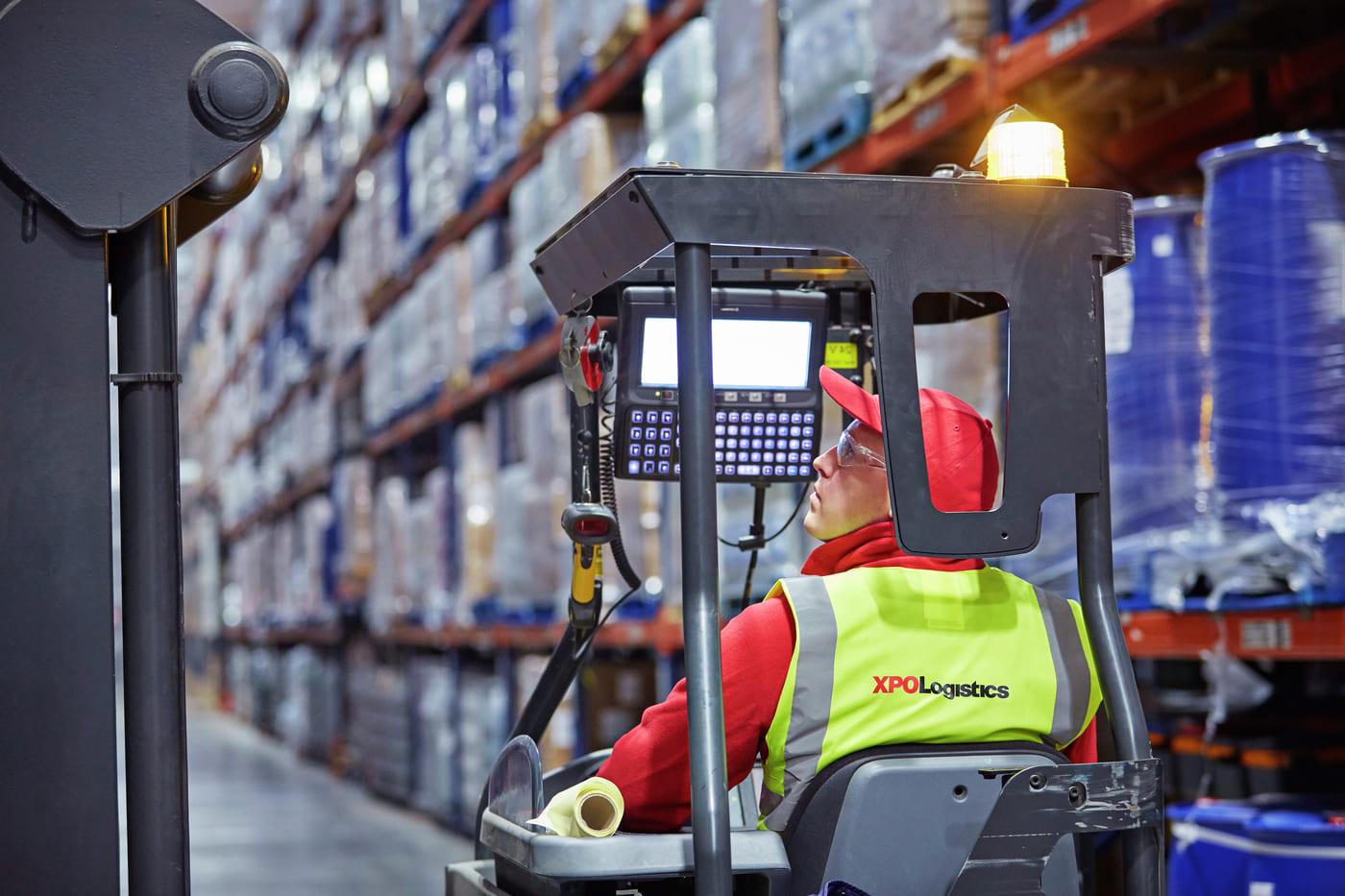 XPO Forklift Employee