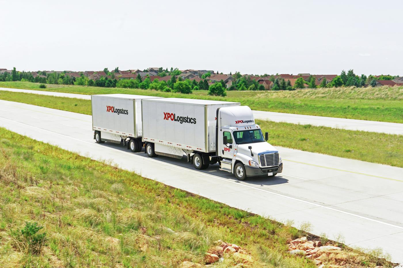 XPO LTL Truck Highway