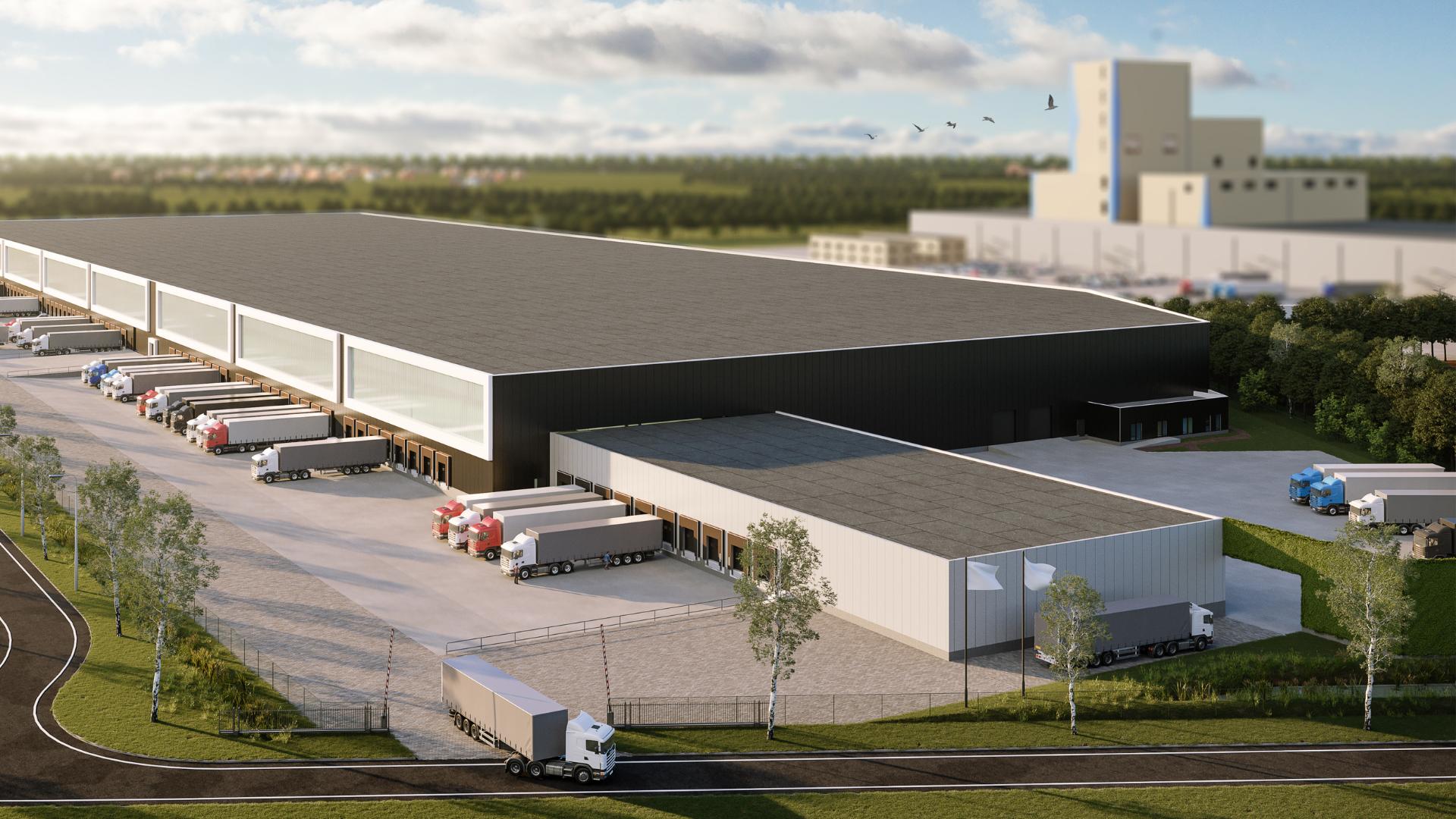 3D model of Danon smart distribution centre