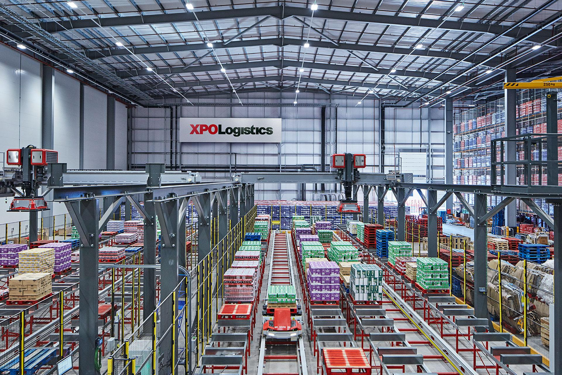Photo from inside XPO / Nestlé Digital Distribution Warehouse of the Future