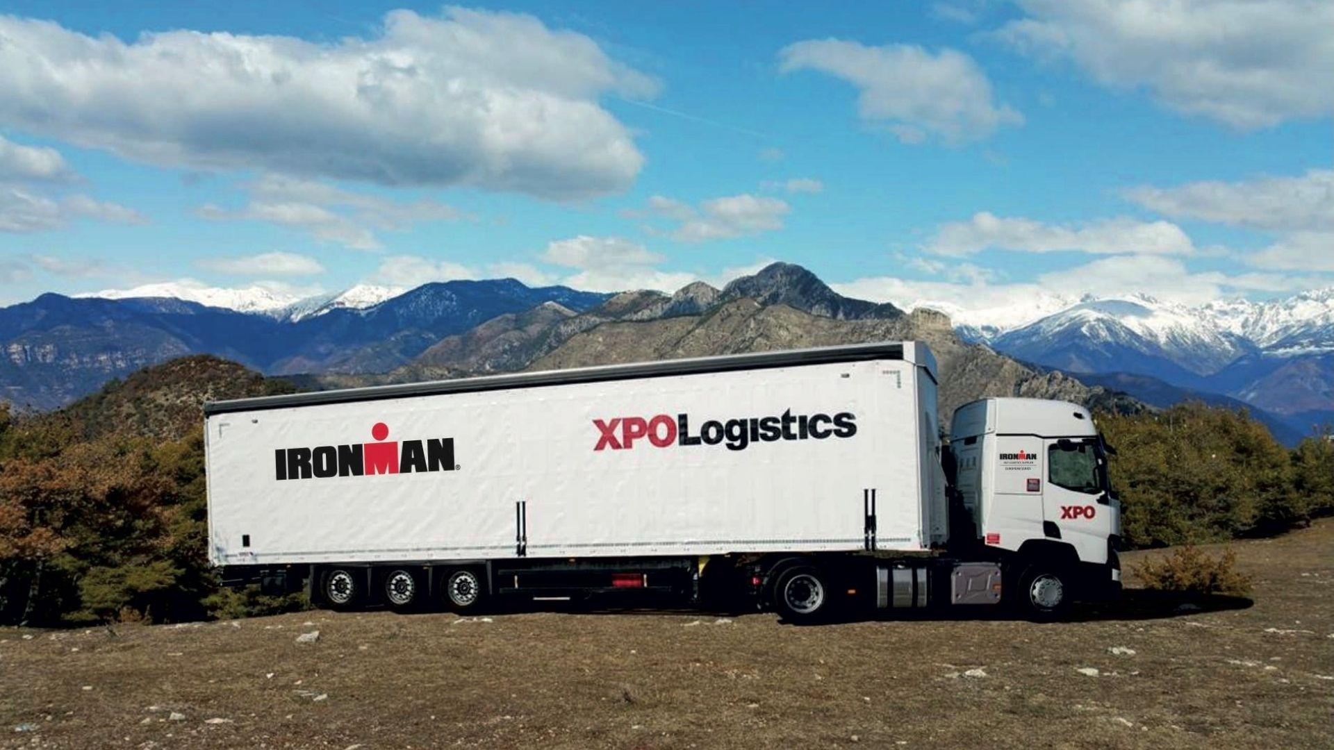 XPO truck for IRONMAN race
