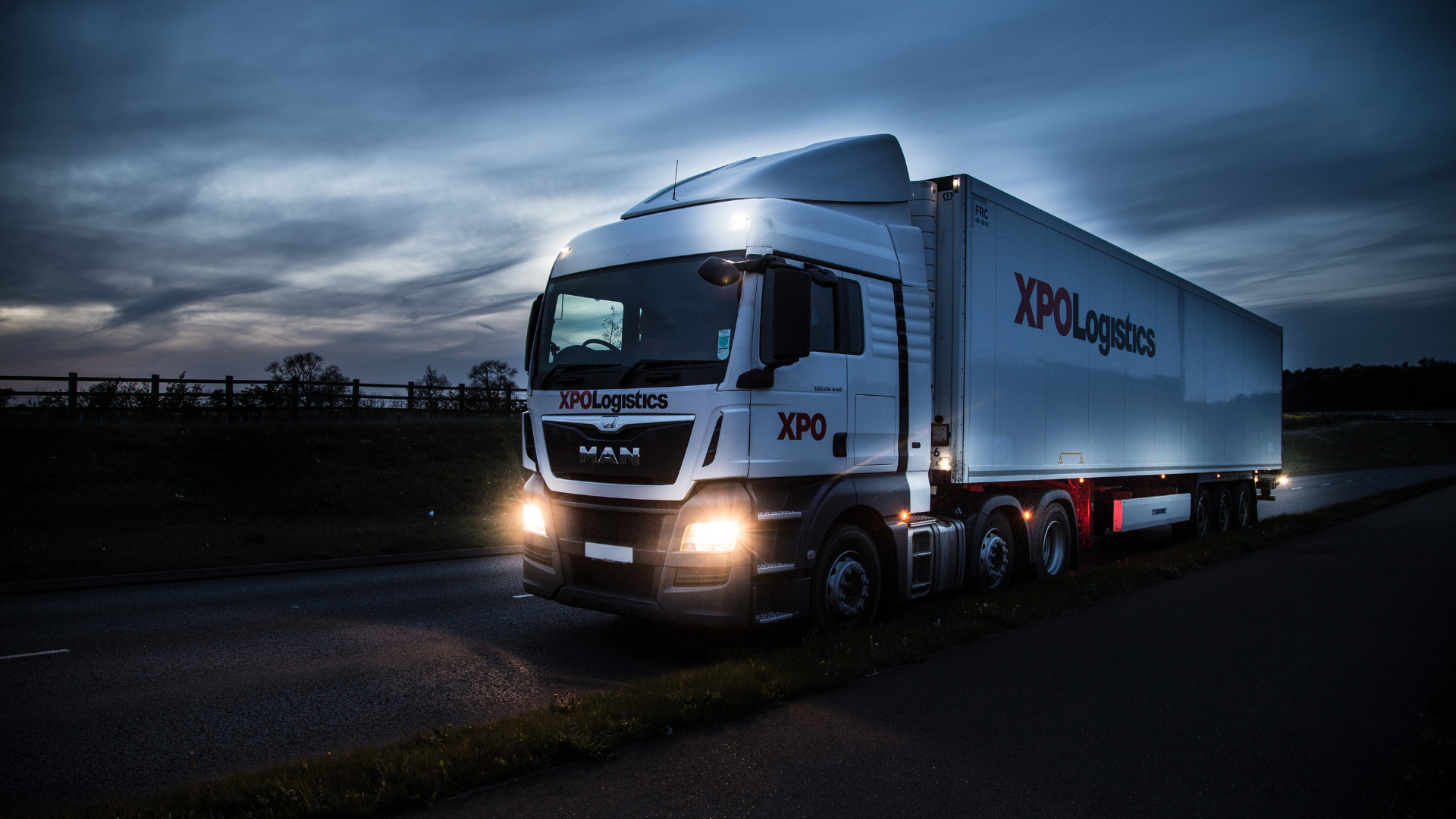 XPO truck in the UK