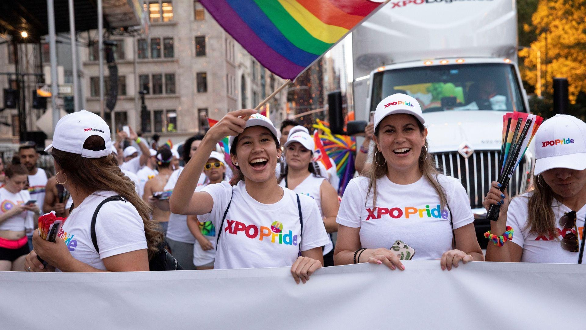 XPO employees at NYC Pride