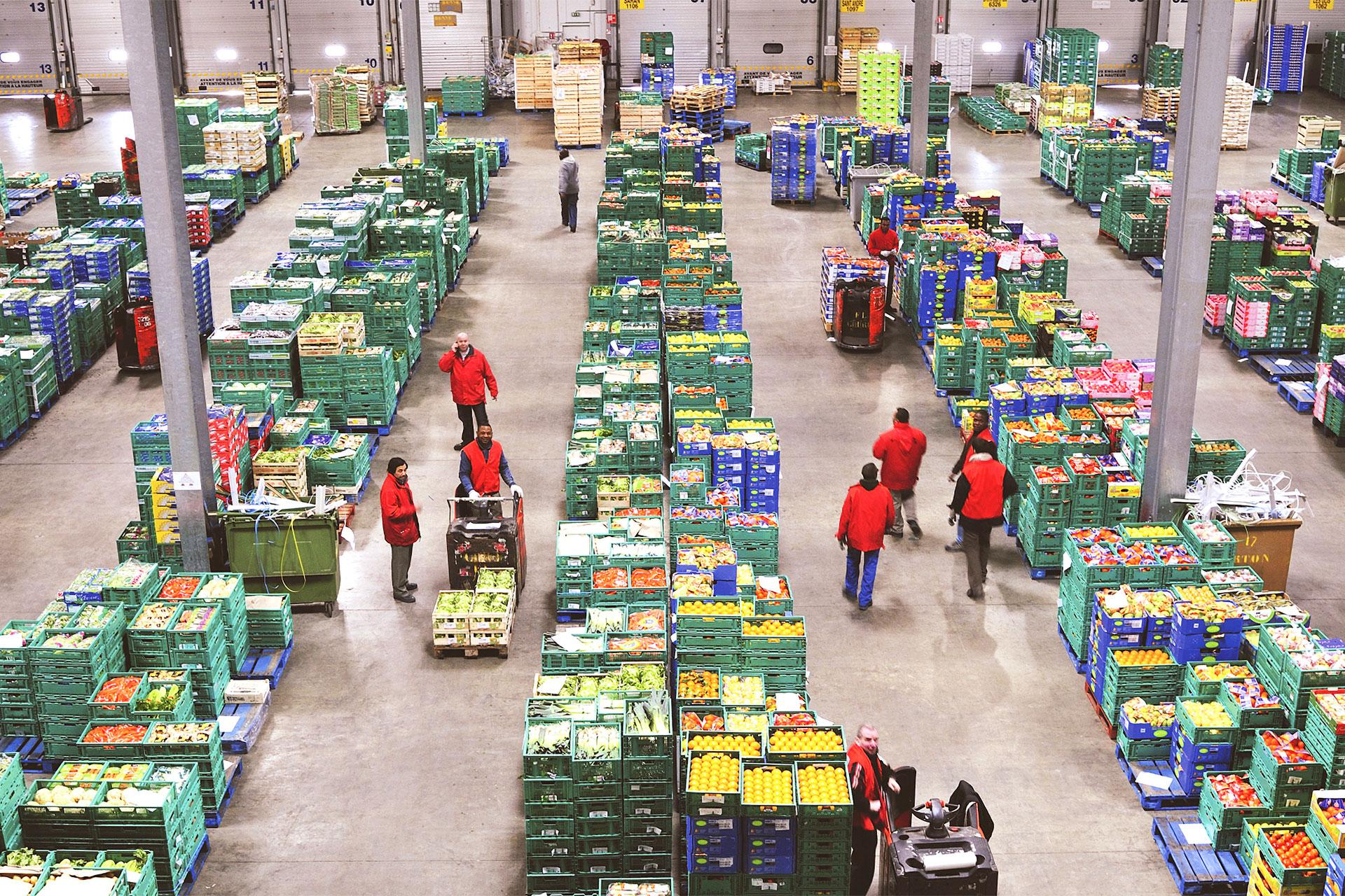 XPO Logistics employees at a food-grade distribution facility in the UK.