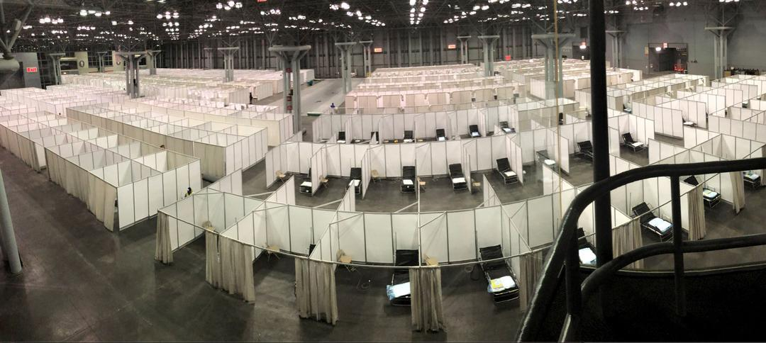 New York City Emergency Management's setup at the Javits Center