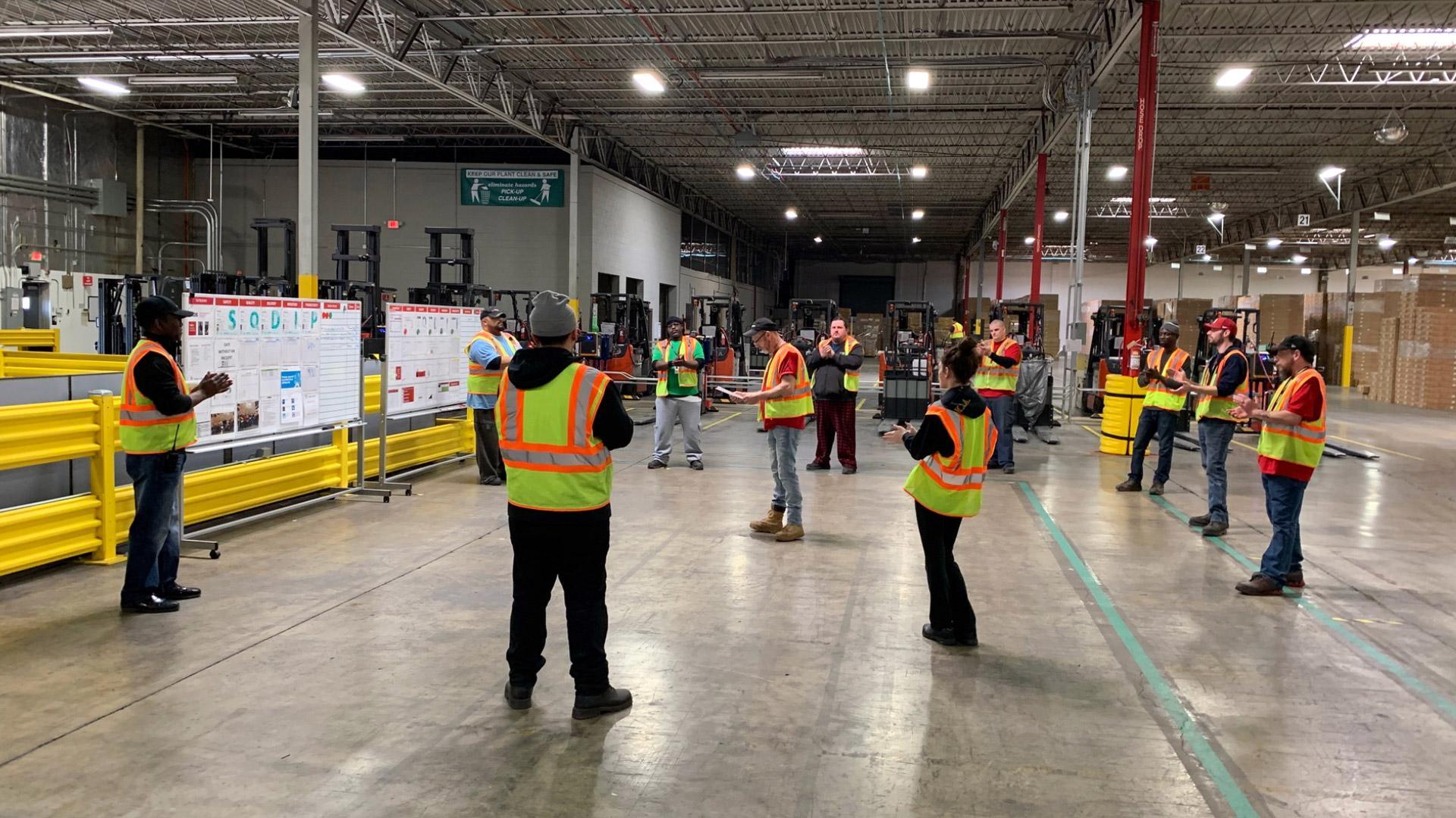 Social distancing at an XPO supply chain facility