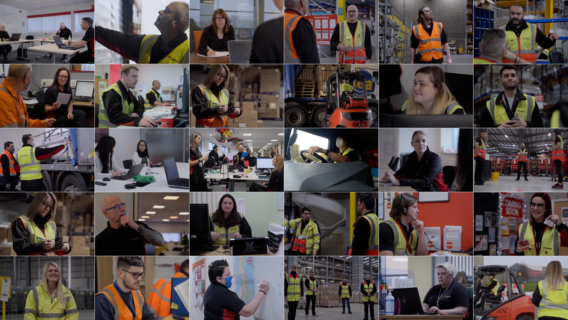 XPO employees in the UK: collage