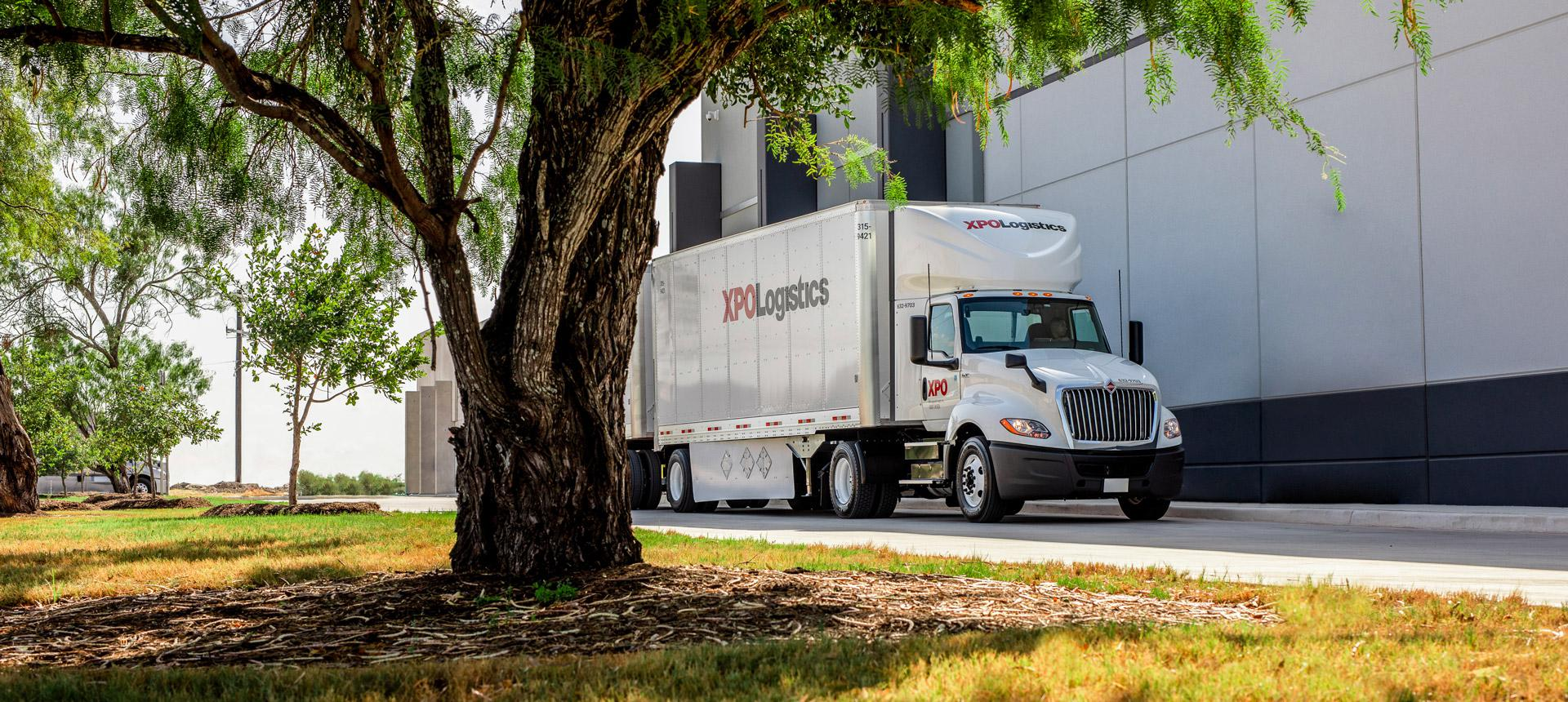 XPO Truck in front of facility