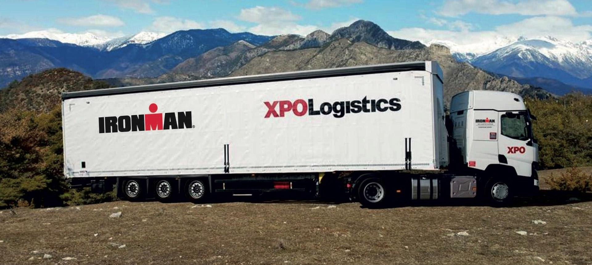 IRONMAN and XPO Logistics cobranded truck
