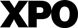 the xpo logo represented as the letters x p and o
