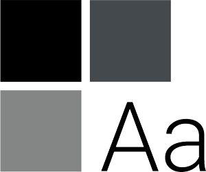 three squares and the letter A capitalized and lowercase representing the usage guide